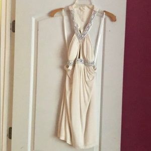 Arden B White backless dress size small